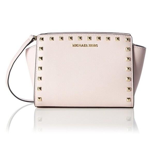 fa307e349e20 Shop Michael Kors Selma Stud Medium Blossom Crossbody Handbag - Free ...