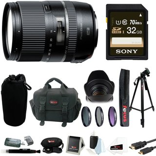 Tamron AFB016N700 16-300 F/3.5-6.3 Di II VC PZD Macro 16-300mm IS Interchangeable Lens for Nikon Cameras with Sony 32GB Kit