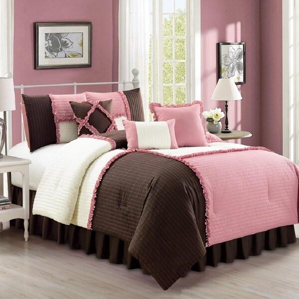 Fashion Street Emiko Quilted 7-piece Comforter Set