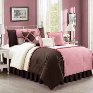Fashion Street Emiko Quilted 7-piece Comforter Set
