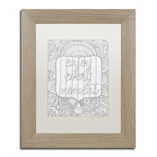 Hello Angel 'Enjoy Every Moment' Matted Framed Art