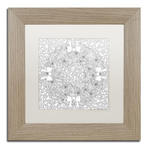 Hello Angel 'Christmas Wreath Mandala' Matted Framed Art