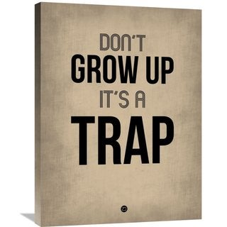 Naxart Studio 'Don't Grow Up It's a Trap 2' Stretched-canvas Wall Art