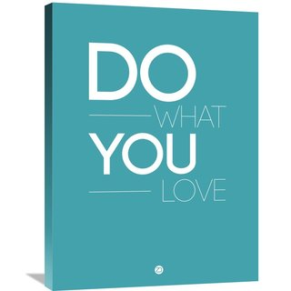 NAXART Studio 'Do What You Love Poster 3' Stretched Canvas Wall Art