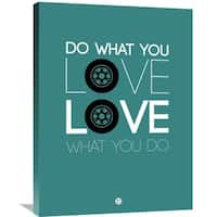 Naxart Studio 'Do What You Love Love What You Do' Multicolored Stretched Canvas Wall Art