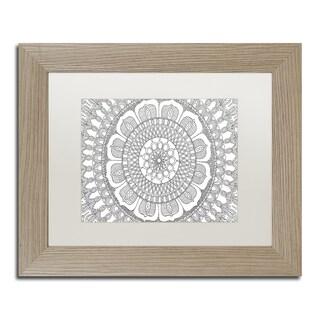 Hello Angel 'Flower Mandala' Matted Framed Art