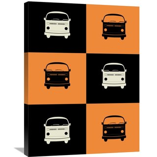 NAXART Studio 'Bus Poster' Stretched Canvas Wall Art