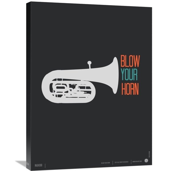 NAXART Studio 'Blow Your Horn Poster' Stretched Canvas Wall Art