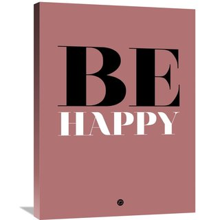 Naxart Studio 'Be Happy Poster 2' Stretched Canvas Wall Art