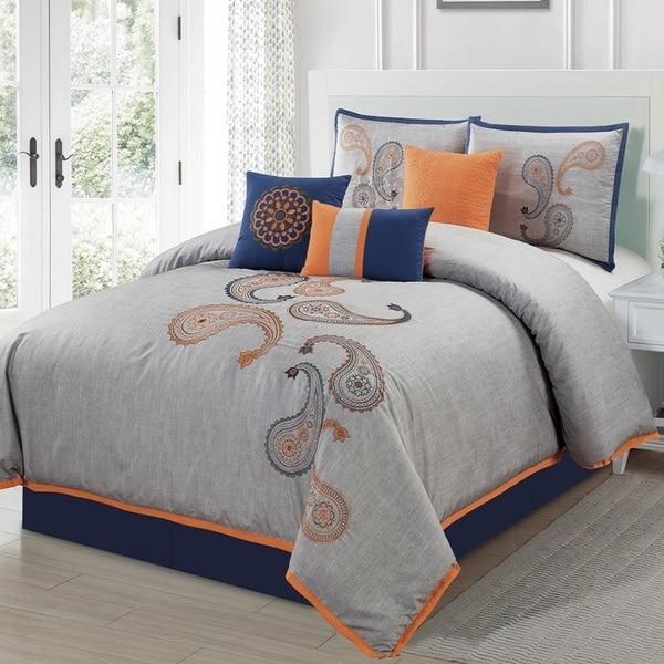 EverRouge Naomi Embroidered 7-piece Comforter Set