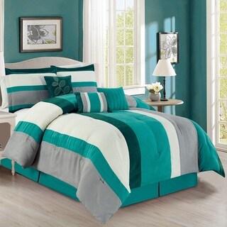 Fashion Street Macaroon Micro Suede 7-piece Comforter Set