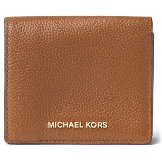 Michael Kors Mercer Luggage Brown Carryall Card Case