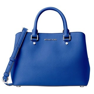 Michael Kors Savannah Medium Electric Blue Satchel Handbag