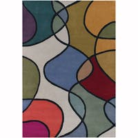 "Artist's Loom Hand-Tufted Contemporary Abstract Pattern New Zealand Wool Rug (5'x7'6"")"