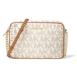Michael Kors Jet Set Travel Vanilla Large East/West Crossbody Handbag