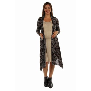 24/7 Comfort Apparel Women's Sexy Sizzle Patterned Cardigan Maternity Shrug