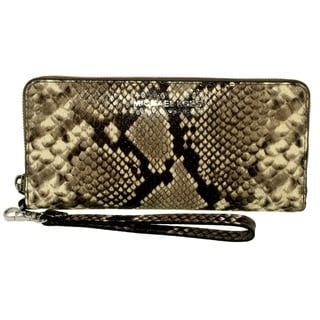 Michael Kors Travel Python Embossed Continental Wallet