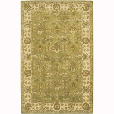 "Artist's Loom Hand-Tufted Traditional Oriental Pattern New Zealand Wool Rug (5'x7'6"")"