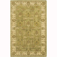 """Artist's Loom Hand-Tufted Traditional Oriental Pattern New Zealand Wool Rug (5'x7'6"""")"""