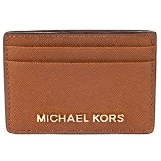 Michael Kors Jet Set Travel Luggage Brown Card Holder