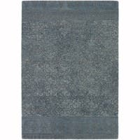 "Artist's Loom Hand-Tufted Contemporary Graphic Pattern Wool  Rug (5'x7'6"")"