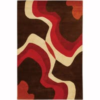 Artist's Loom Hand-Tufted Contemporary Abstract Pattern New Zealand Wool Rug - 5'x7'6""