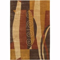 """Artist's Loom Hand-Tufted Contemporary Abstract Pattern New Zealand Wool Rug (5'x7'6"""")"""