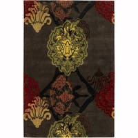 "Artist's Loom Hand-Tufted Contemporary Graphic Pattern New Zealand Wool Rug (5'x7'6"")"