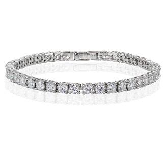 Link to Icz Stonez Sterling Silver Cubic Zirconia 4mm Round-cut Tennis Bracelet Similar Items in Bracelets