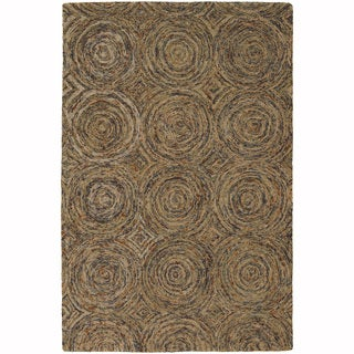"Artist's Loom Hand-Tufted Contemporary Solid Pattern Wool  Rug (5'x7'6"")"
