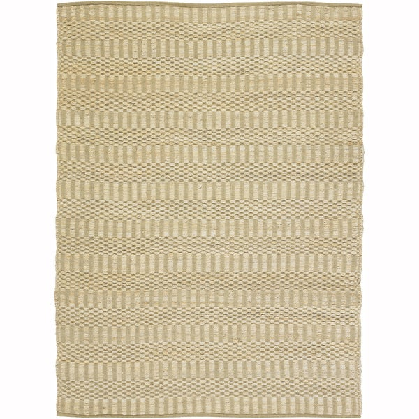 Artist's Loom Flatweave Contemporary Solid Pattern Cotton/Jute Rug