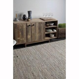 "Artist's Loom Flatweave Contemporary Solid Pattern Cotton/Jute Rug (5'x7'6"")"