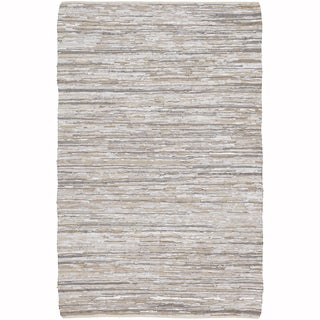 "Artist's Loom Flatweave Contemporary Solid Pattern Cotton/Jute Rug (5'x7'6"")"