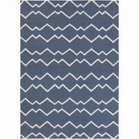 Artist's Loom Flatweave Contemporary Geometric Pattern Wool Rug
