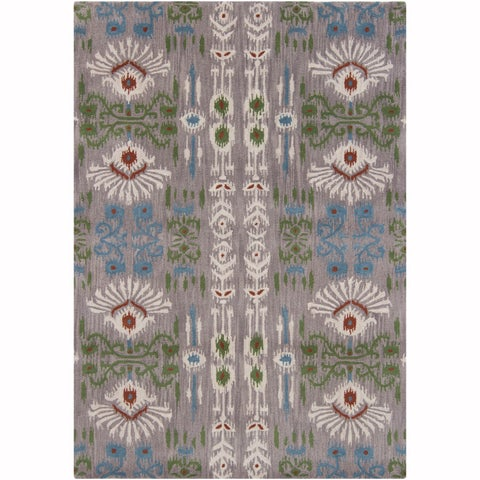 Artist's Loom Hand-Tufted Contemporary Ikat Pattern Wool Rug (5'x7')