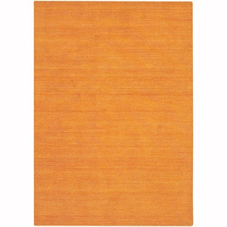 """Artist's Loom Hand-Tufted Contemporary Solid Pattern Wool  Rug (5'x7'6"""")"""