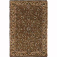 "Artist's Loom Hand-Tufted Traditional Floral Pattern Wool  Rug (5'x7'6"")"