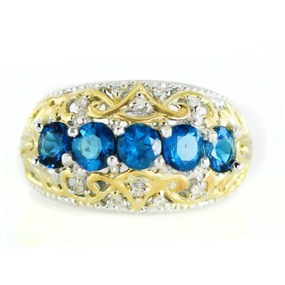 One-of-a-kind Michael Valitutti Palladium Silver Neon Apatite and Diamond Ring