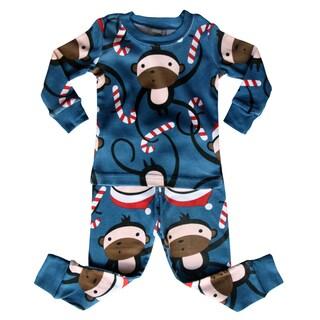 Holiday 'Santa Monkey' Baby and Toddler Pajama Set by Rocket Bug