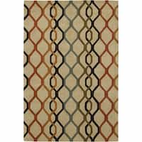 "Artist's Loom Hand-Tufted Contemporary Geometric Pattern New Zealand Wool Rug (5'x7'6"")"