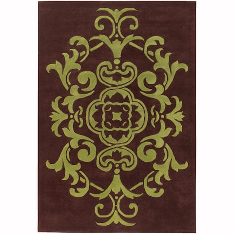 "Artist's Loom Hand-Tufted Contemporary Ornamental Pattern New Zealand Wool Rug (5'x7'6"")"