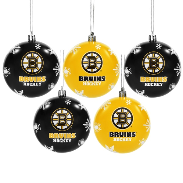 Boston Bruins 2016 NHL 5 Shatterproof Ball Ornaments