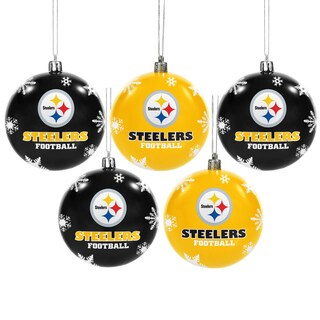 Pitts Steelers 2016 NFL Shatterproof Ball Ornaments