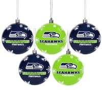 Seattle Seahawks 2016 NFL Shatterproof Ball Ornaments
