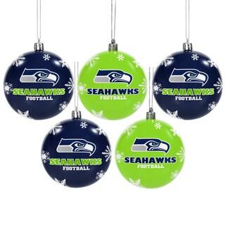 Seattle Seahawks 2016 NFL Shatterproof Ball Ornaments (Option: Seattle Seahawks)