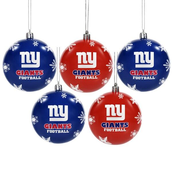 New York Giants 2016 NFL Shatterproof Ball Ornaments