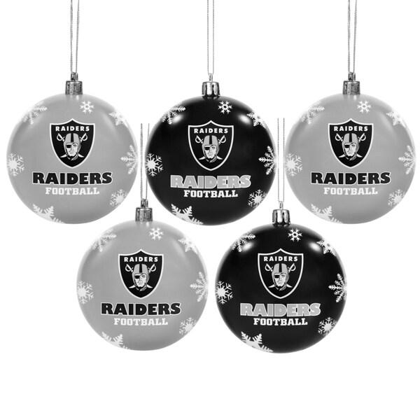 Oakland Raiders 2016 NFL Shatterproof Ball Ornaments