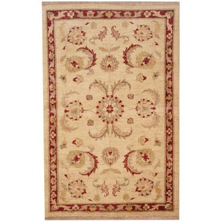 Herat Oriental Afghan Hand-knotted Tribal Oushak Wool Rug (3' x 4'7)