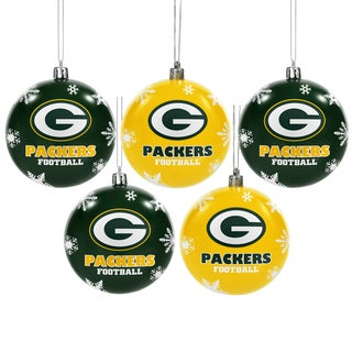 Green Bay Packers 2016 NFL Shatterproof Ball Ornaments