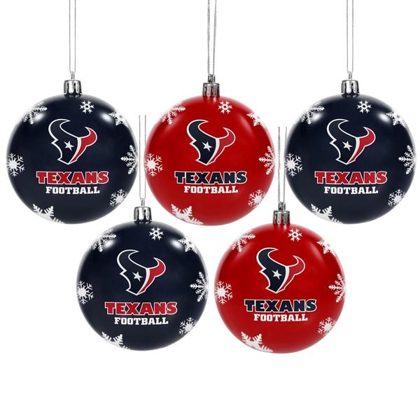 Houston Texans 2016 NFL Shatterproof Ball Ornaments